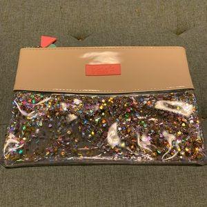 Benefit confetti cosmetics bag